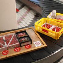 空港で観光客を出迎えるさくらんぼオブジェの制作